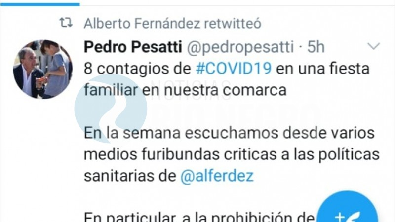 twitter, pedro pesatti, ALBERTO FERNANDEZ