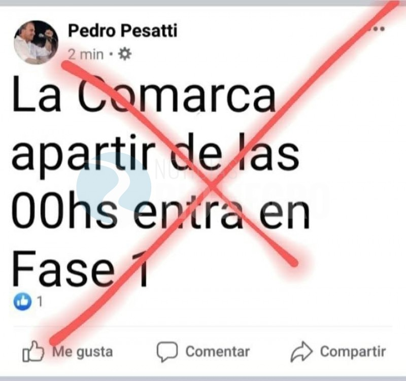 pedro pesatti, FACEBOOK, noticia falsa
