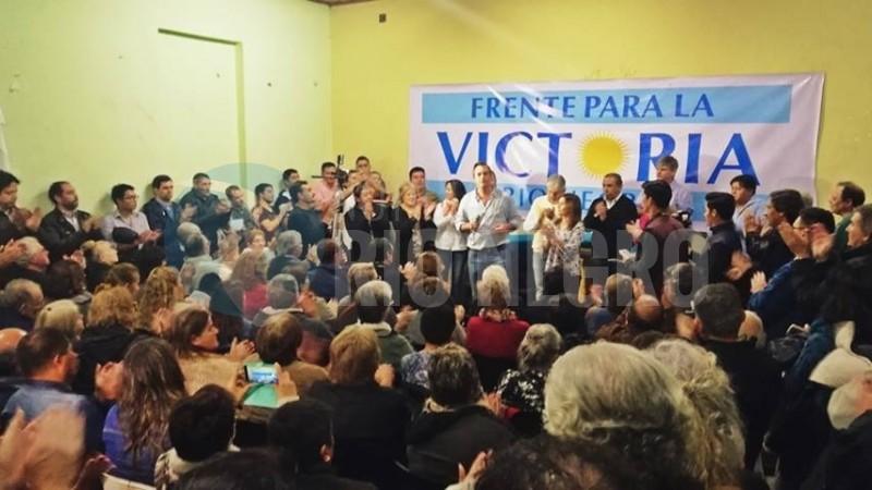 Martin Soria, general conesa, FRENTE PARA LA VICTORIA, acto