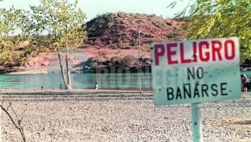 allen, balneario, rio negro, contaminacion