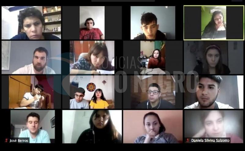 legisladores, ESTUDIANTES, alumnos, videoconferencia