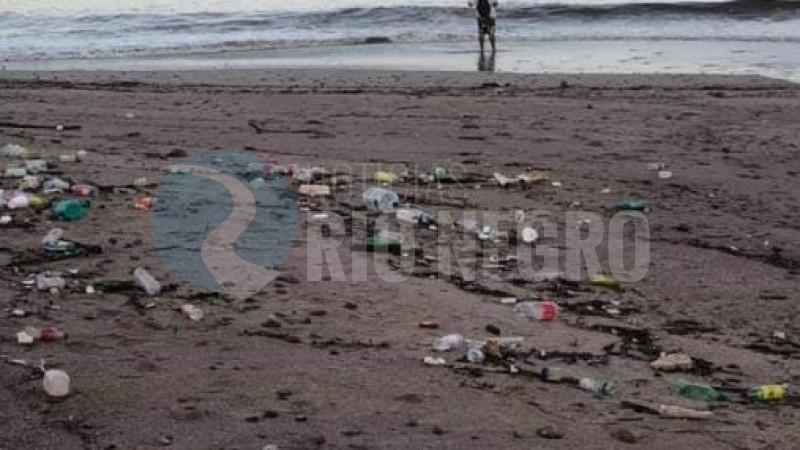 mar, playa, basura