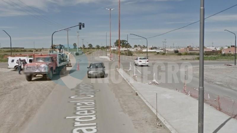 calle cardenal cagliero, semaforos