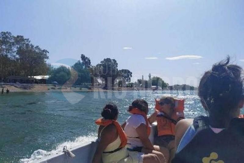 lago pellegrini, actividad nautica, CINCO SALTOS