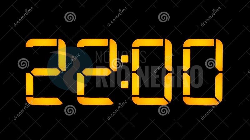 22 horas, reloj