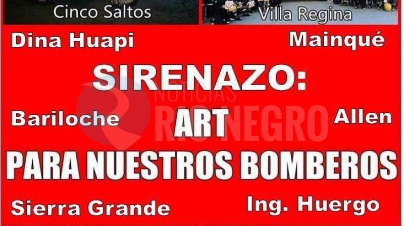 ART, bomberos, sirenazo
