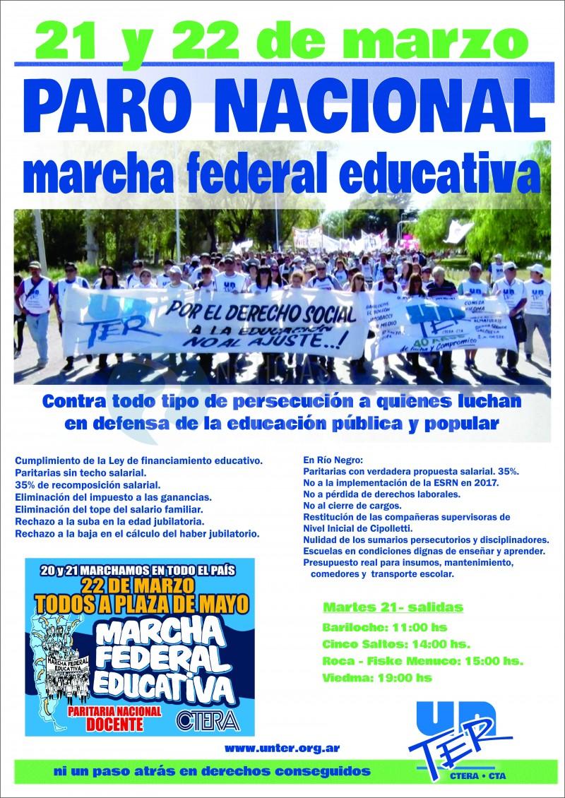 Unter, afiche, marcha federal