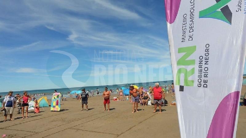 Las Grutas, actividades, playa