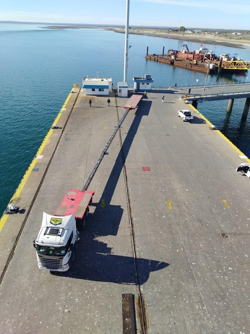 puerto SAE, aspas, parque eolico