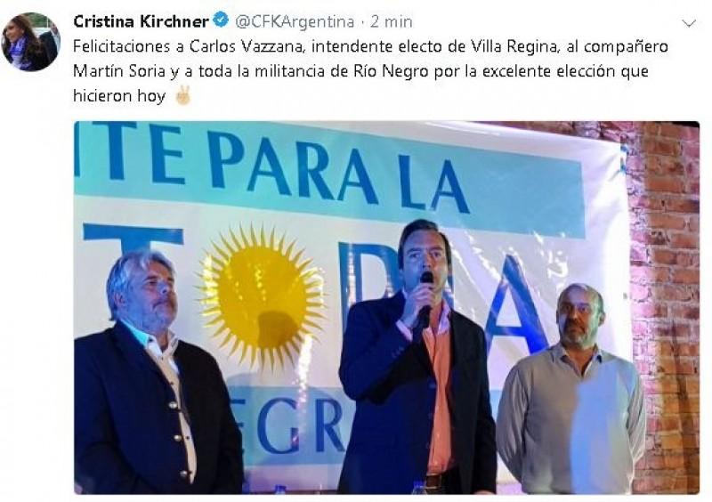 Martin Soria, villa regina, cristina fernandez de kirchner, twitter, Carlos Vazzana