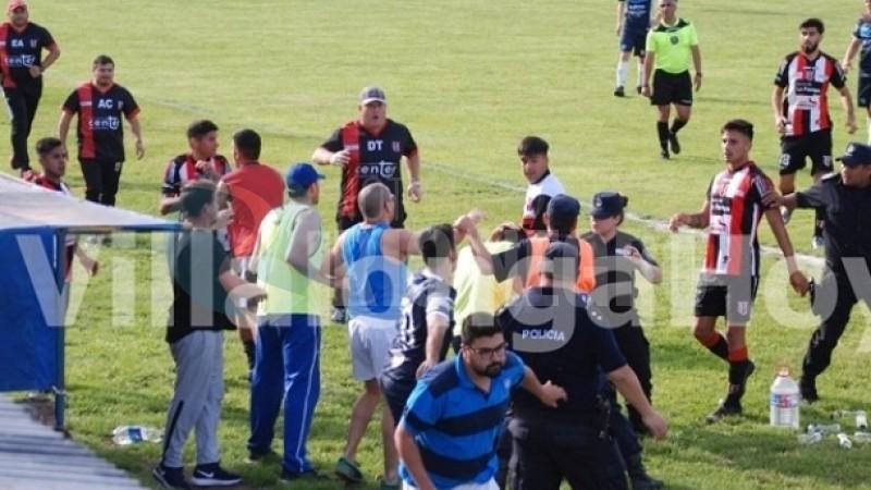 futbol, VILLALONGA, incidentes