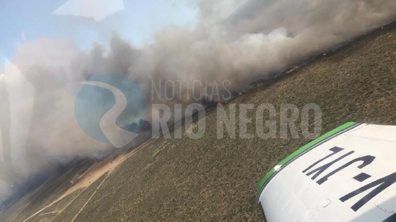 avión, incendio