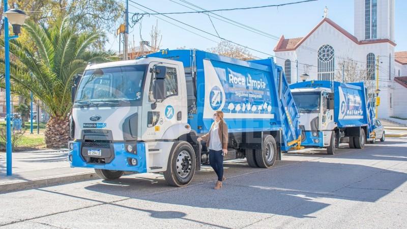 general roca, camiones, recolectores de residuos