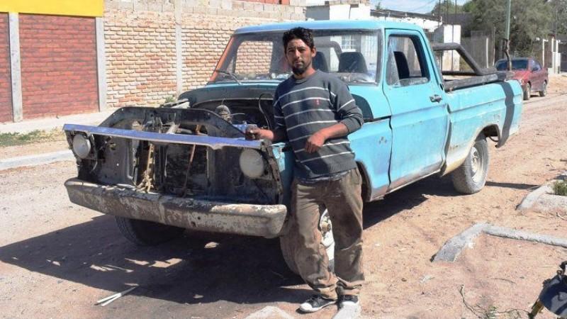cristian firmapaz, camioneta, Las Grutas