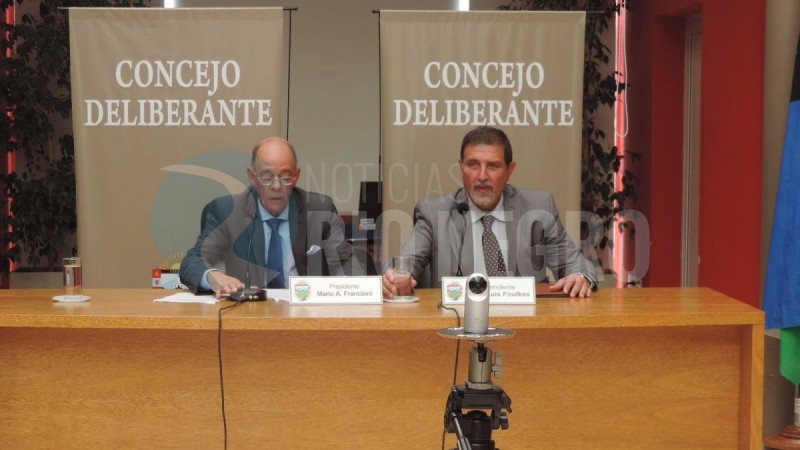 MARIO ALBERTO FRANCIONI, jose luis foulkes, Concejo Deliberante, viedma