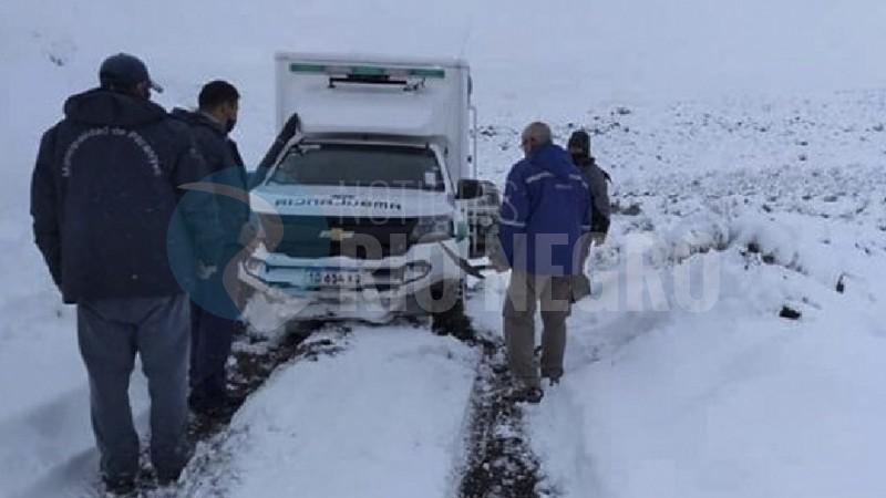 ambulancia, nieve, region sur