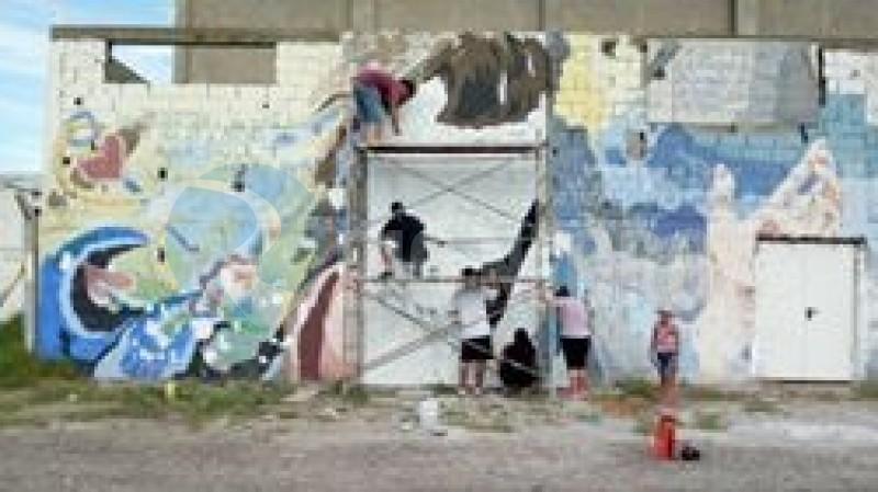 karen alvarez, restauran mural