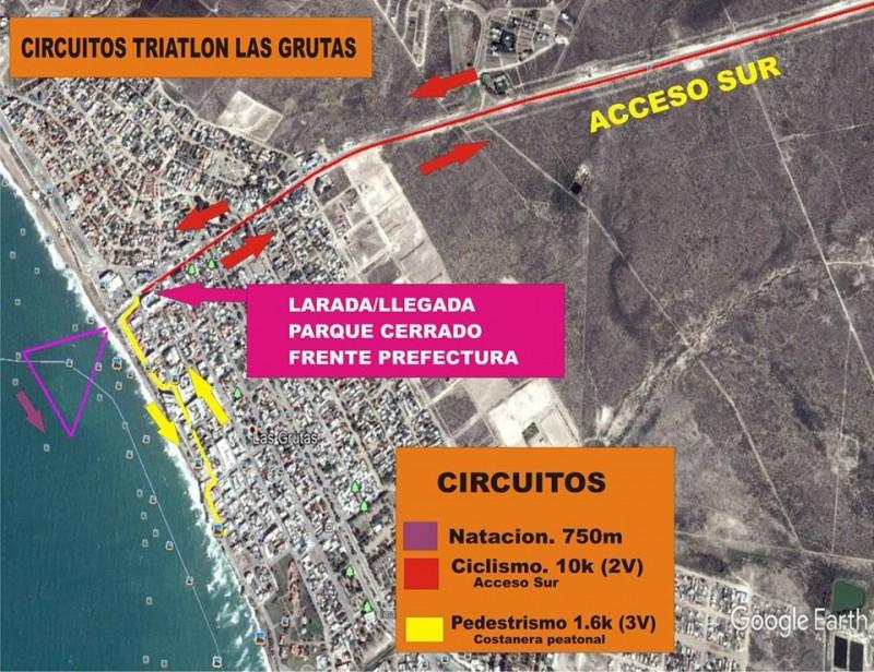 Las Grutas, triatlon
