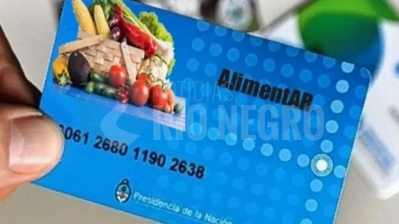 tarjeta alimentaria