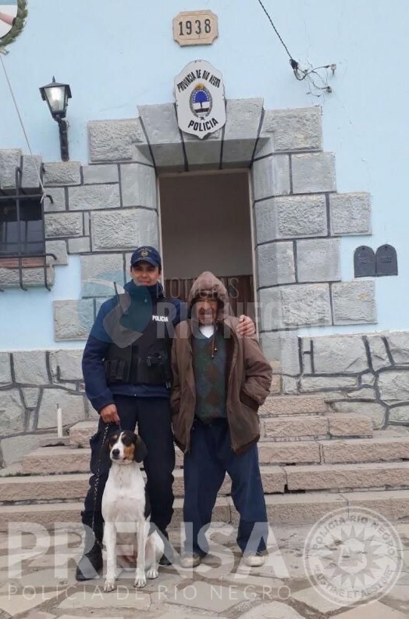policia, PERRO, anciano