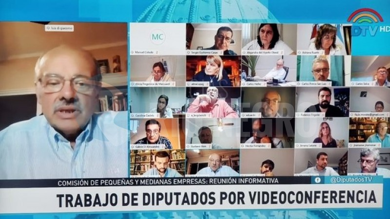 Luis di giácomo, CAMARA DE DIPUTADOS DE LA NACION, videoconferencia