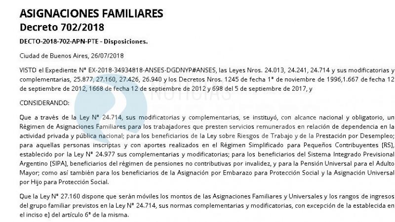decreto, ASIGNACIONES FAMILIARES