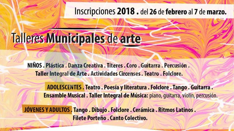 inscripcion, talleres municipales