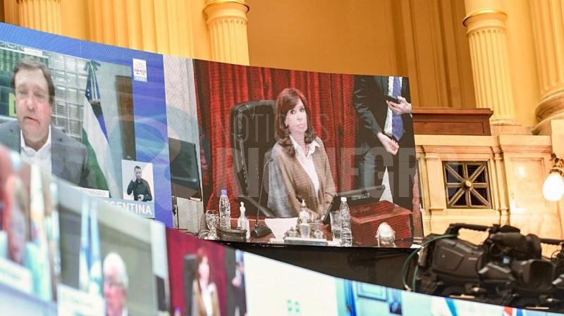 Weretilneck, cristina fernandez de kirchner, senado, sesion virtual