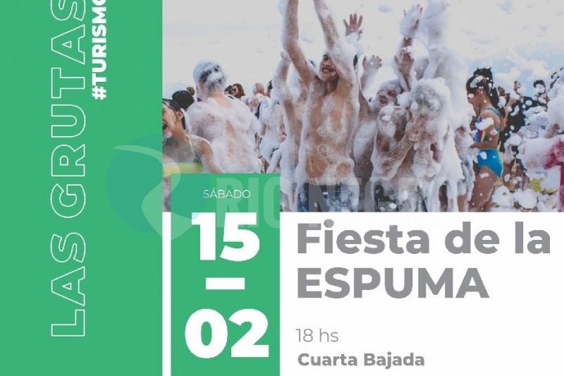 Fiesta de la espuma, Las Grutas, verano 2020