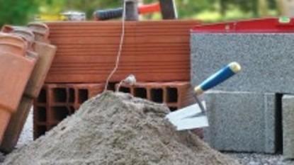 construción, cuchara, OBRA