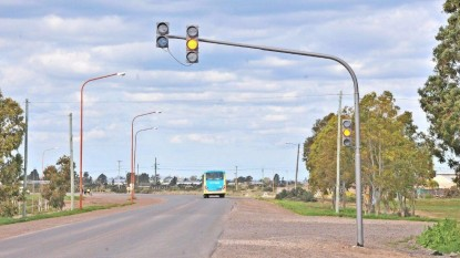 semaforos, ruta 1 y bouchard