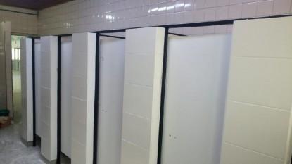 baño, escuela