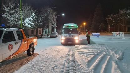 ambulancia, nieve