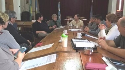 hcd patagones, concejales taxistas reunion