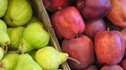 peras, manzanas