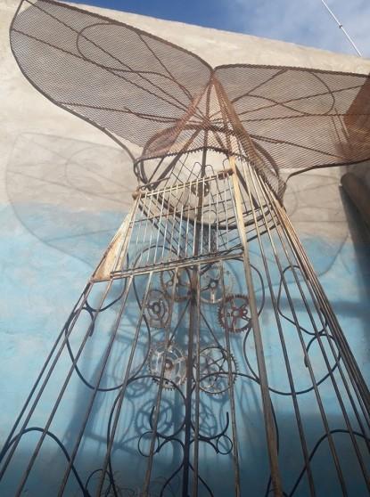 san antonio este, ballena, escultura