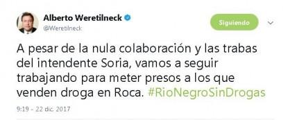 Weretilneck, Martin Soria, DROGA