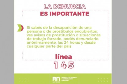 explotacion sexual, linea 145