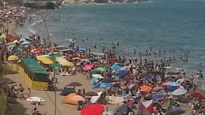Las Grutas, playa