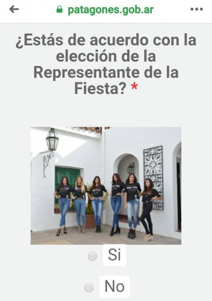 FIESTA DE LA SOBERANIA, reina, encuesta