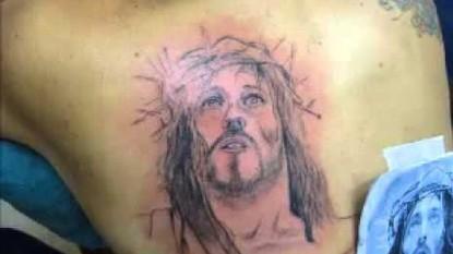 tatuaje, cara de cristo