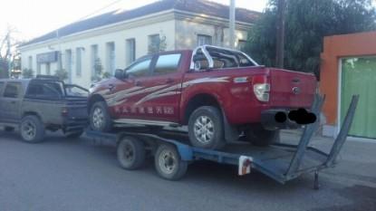 camioneta, secuestrada