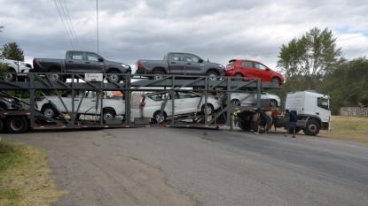camion, atascado