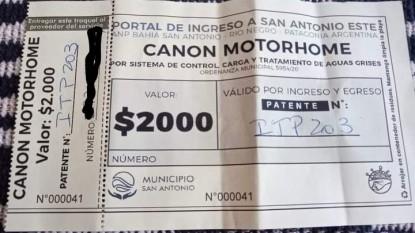 puerto, san antonio este, canon, MOTORHOME