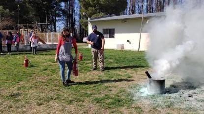 capacitación uso de extintores de incendio