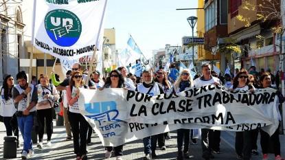 Unter, movilizacion, marcha