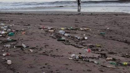 playa, basura, mar