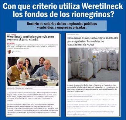 Weretilneck, Nicolás Rochás, fondos
