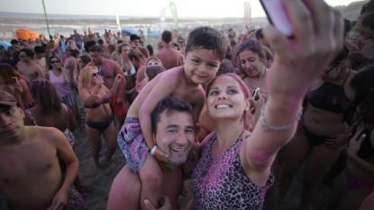 Las Grutas, playa, selfie