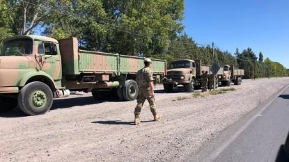 Coronavirus, camiones, militares